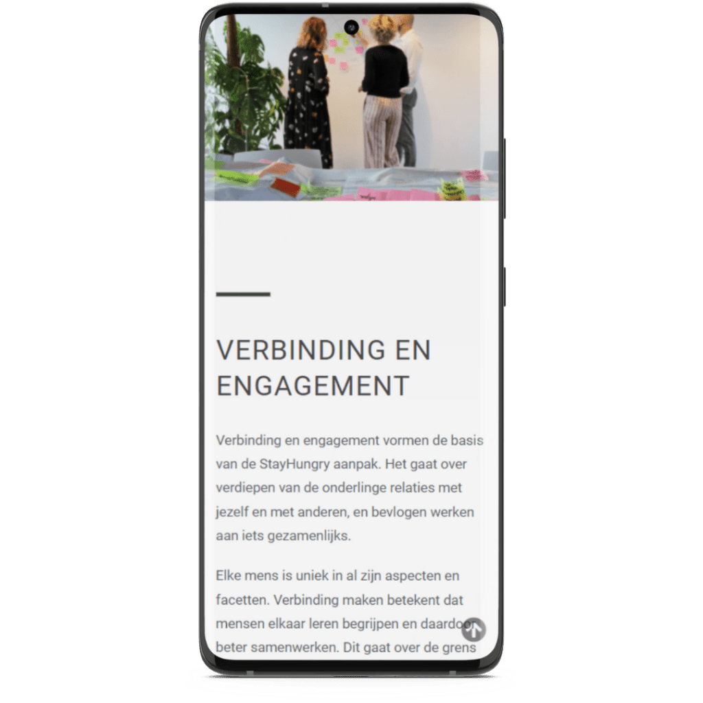 StayHungry mobile responsive website
