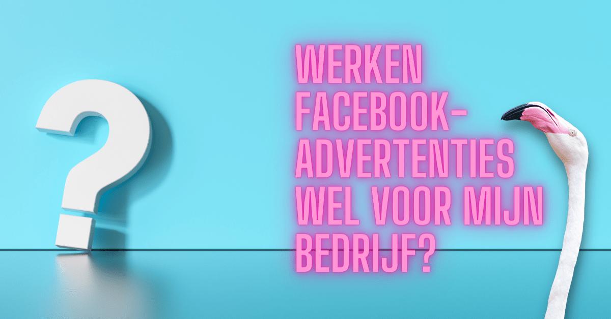 Werken Facebook-advertenties wel voor mijn bedrijf?